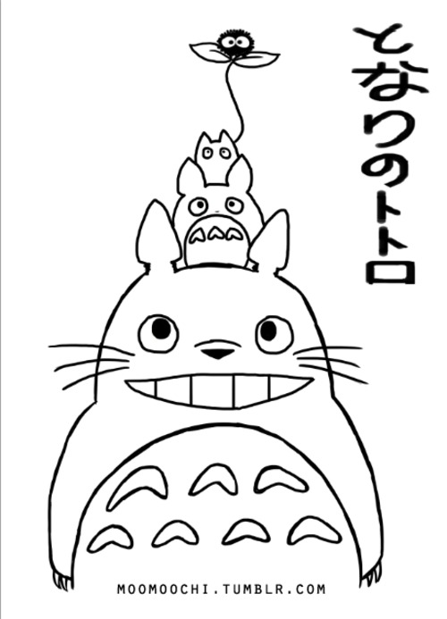 500x693 Totoro Coloring Pages