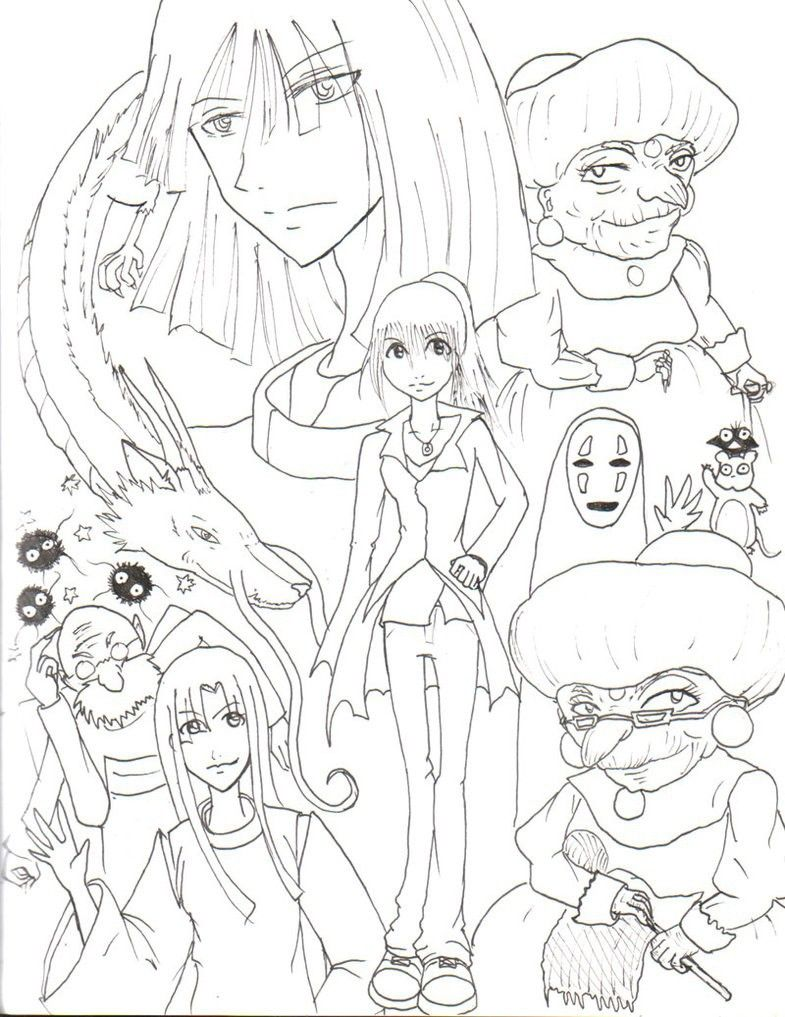 785x1017 Spirited Away Coloring Pages Free Coloring Pages For Kids Ghibli