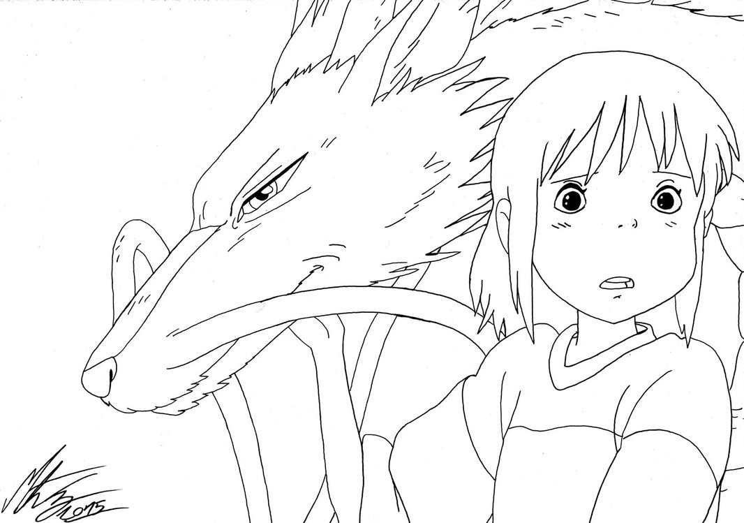1066x749 Astonishing Spirited Away Coloring Pages Studio Ghibli