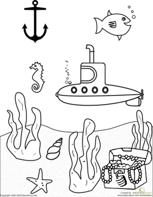 301x388 Submarine Coloring Pages