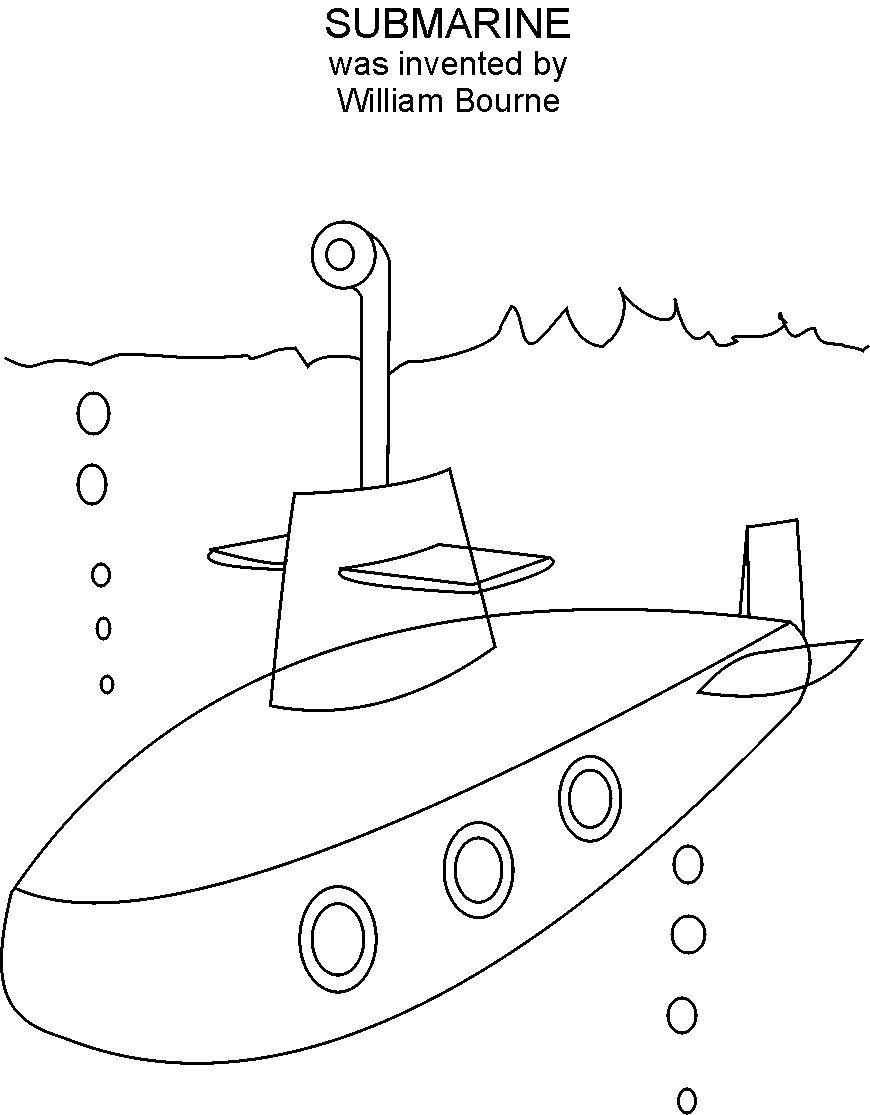 870x1115 Submarine Coloring Pages Pictures Free Coloring Pages