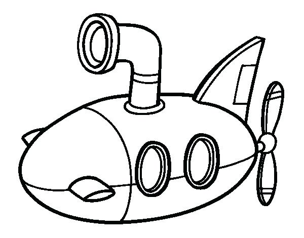 600x470 Submarine Coloring Pages Submarine Coloring Page Yellow Submarine