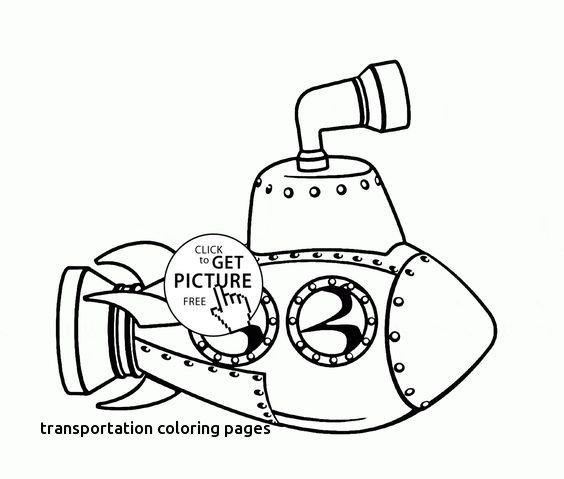 564x479 Water Transportation Coloring Pages Luxury Cute Cartoon Submarine