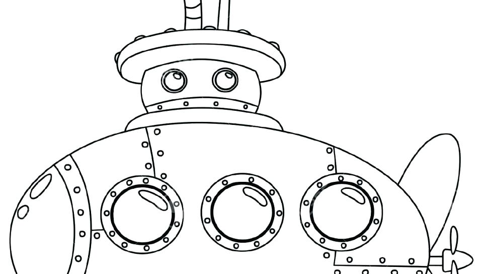 960x544 Yellow Coloring Pages Submarine Coloring Pages Yellow Submarine