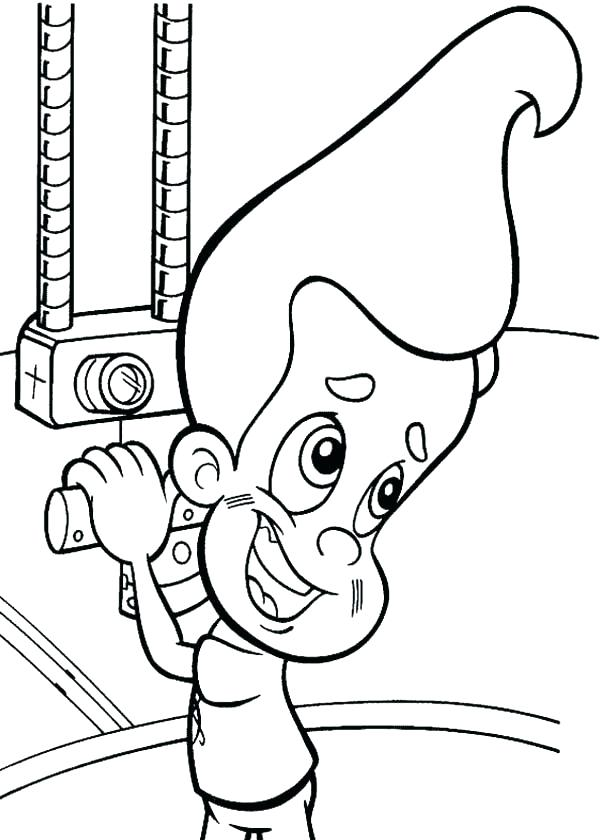 600x840 Jimmy Neutron Colouring Pages Printable Coloring Submarine