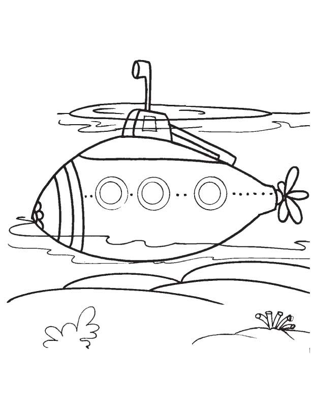 612x792 Modern Submarine Coloring Page Coloring Pages