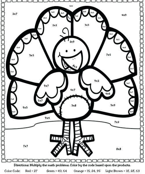 500x600 Division Coloring Pages Multiplication Facts Coloring Pages Basic
