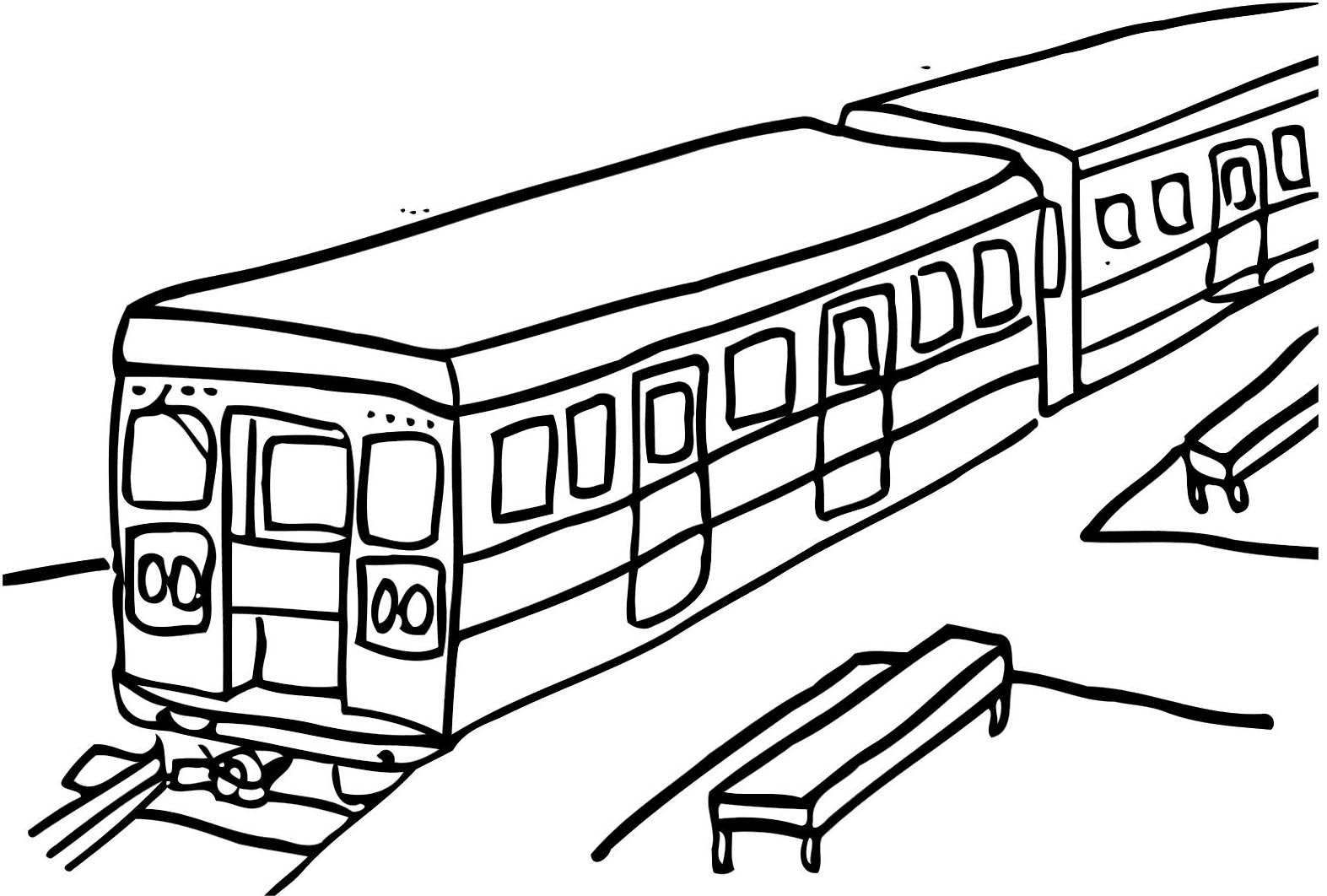 Subway Train Coloring Pages