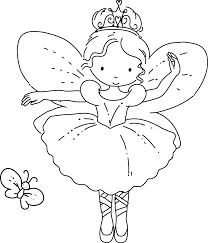Sugar Plum Fairy Coloring Page
