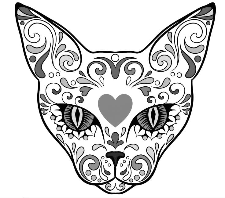 Collection Sugar Skull Animal Coloring Pages Pictures