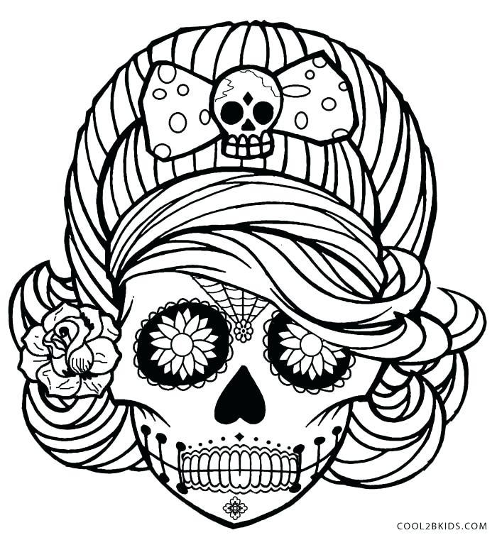 700x761 Sugar Skulls Coloring Pages Sugar Skull Coloring Pages Sugar Skull