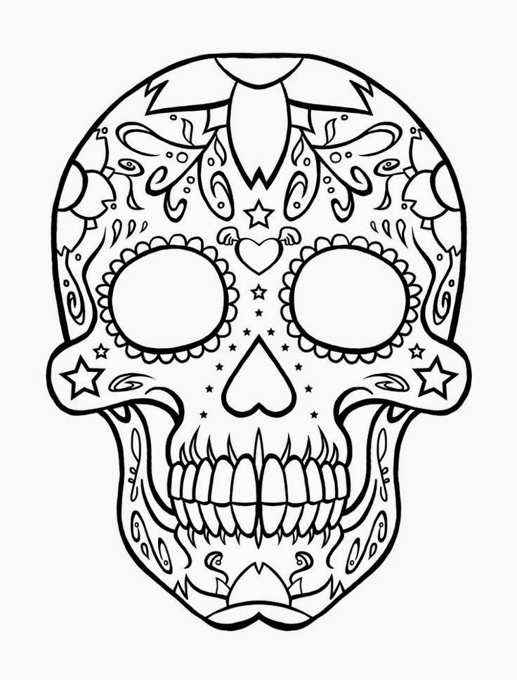 736x969 Sugar Candy Skull Coloring Pages Sugar Skulls