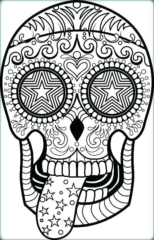 500x777 Sugar Skull Coloring Pages Printable Sugar Skull Coloring Page