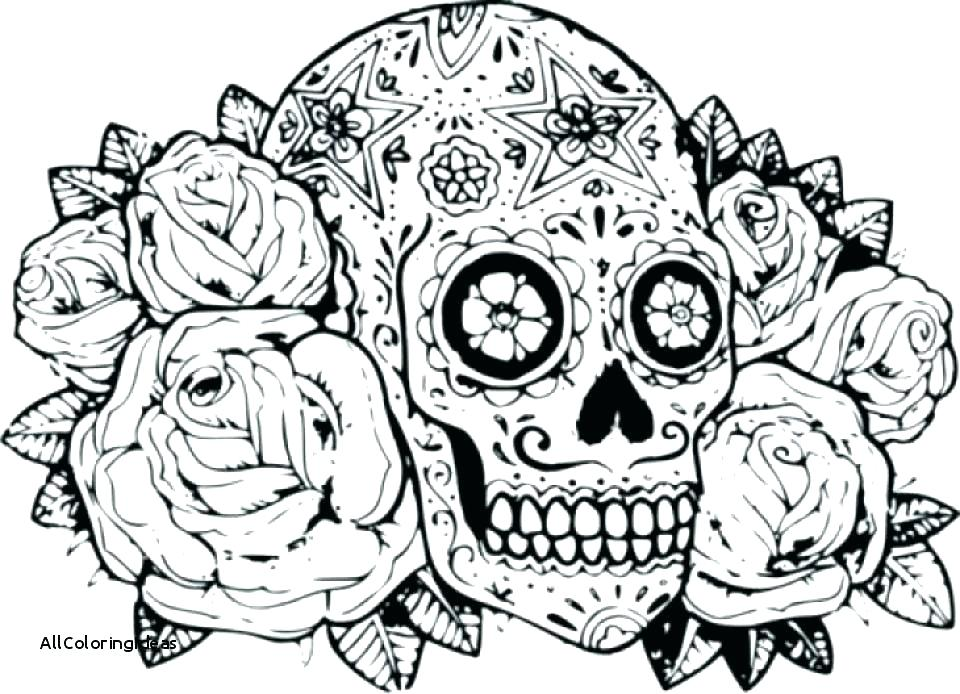 960x694 Free Sugar Skull Coloring Pages For Adults Sugar Skull Coloring