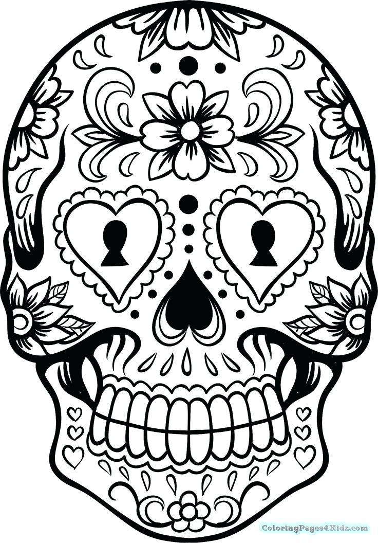 736x1056 Skull Coloring Pages Girl Sugar Skull Coloring Pages Sugar Skull