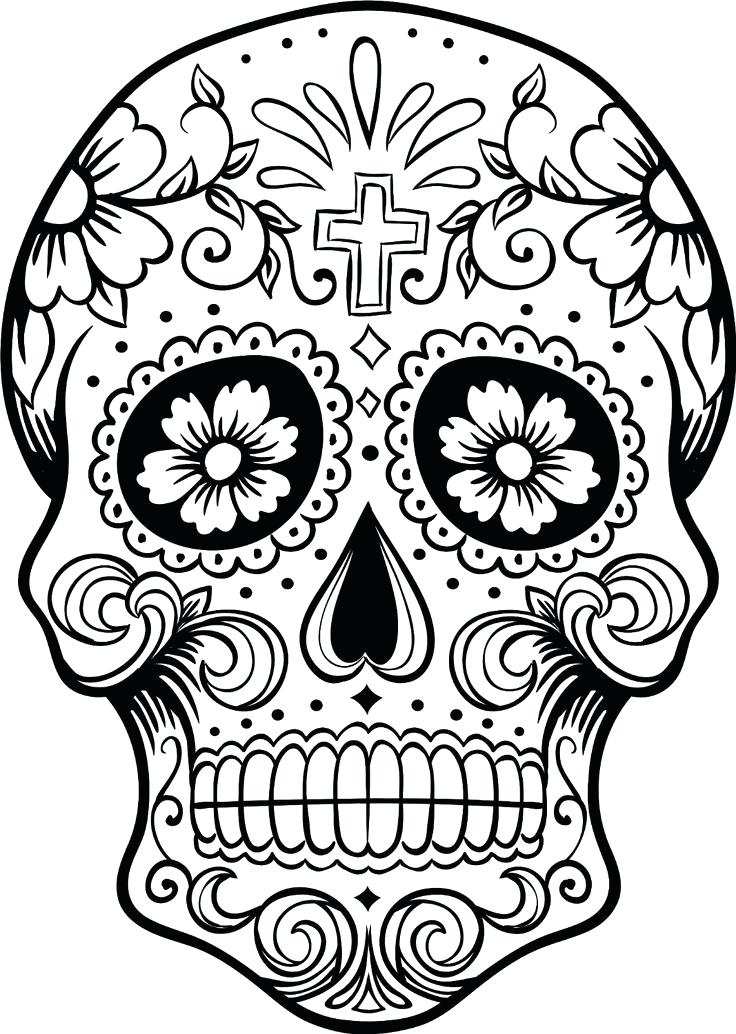 736x1034 Skull Coloring Pages Sugar Skull Coloring Pages Sugar Skull