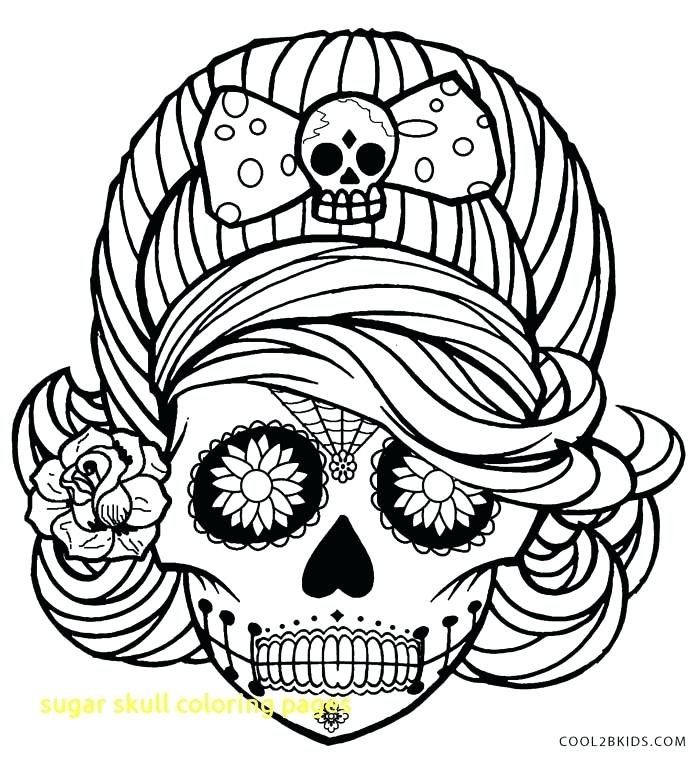 700x761 Skulls Coloring Pages Sugar Skull Coloring Pages With Sugar Skull