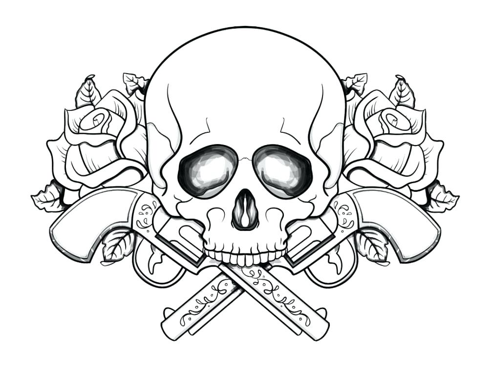 1013x768 Sugar Skull Color Pages Skull Coloring Pages Guns And Roses Skull