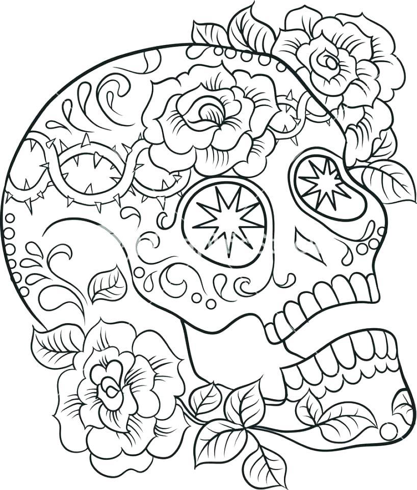 818x960 Sugar Skull Coloring Pages Pdf Free Printable Coloring Sugar Skull