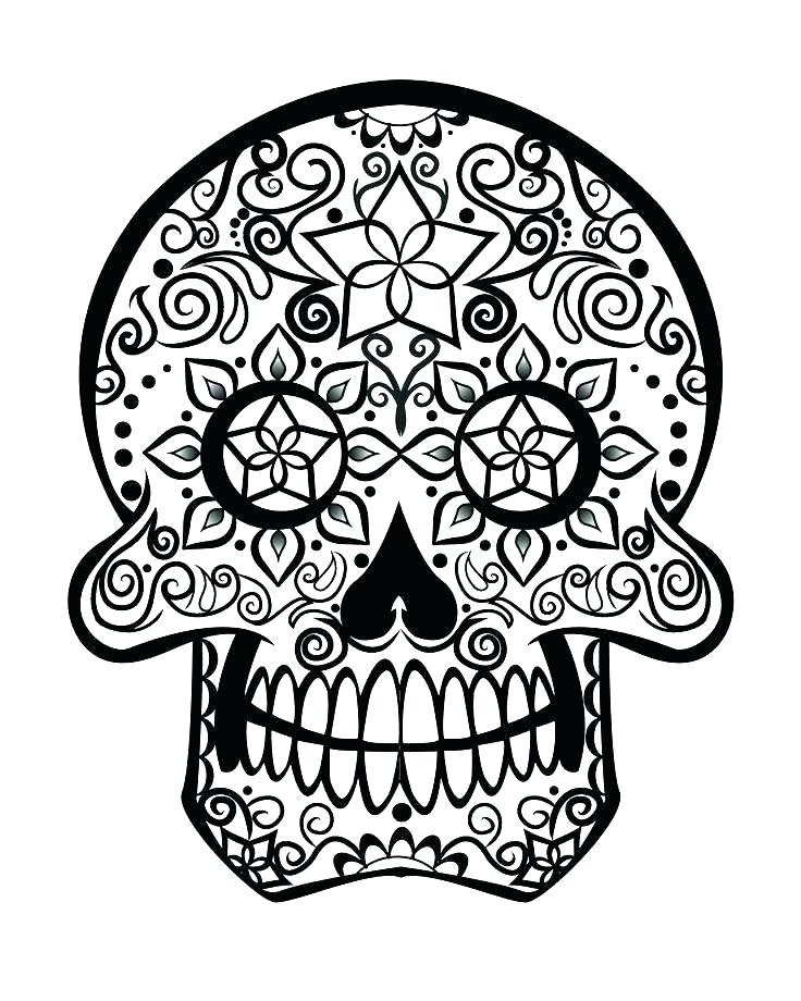 736x920 Candy Skull Coloring Pages Plus Sugar Skull Coloring Pages Star