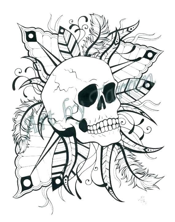 570x725 Sugar Skulls Coloring Pages Free Printable Sugar Skull Coloring