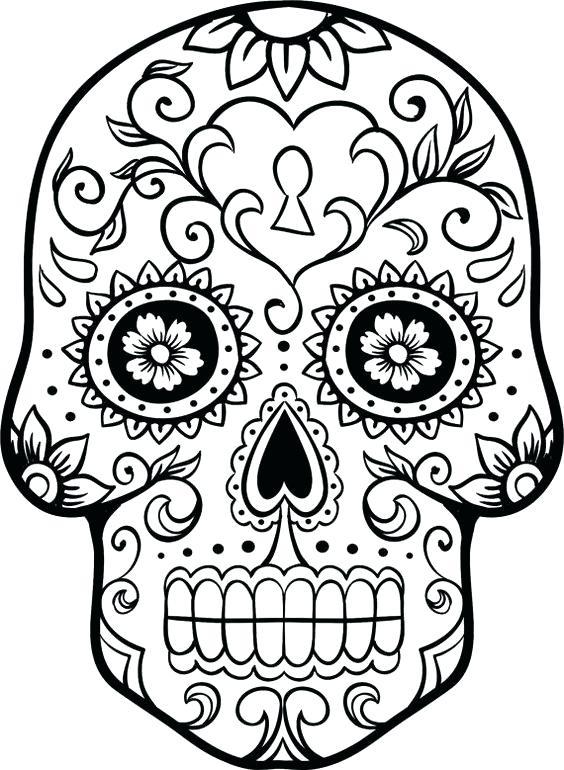 564x770 Sugar Skulls Coloring Pages Sugar Skull Coloring Coloring Pages