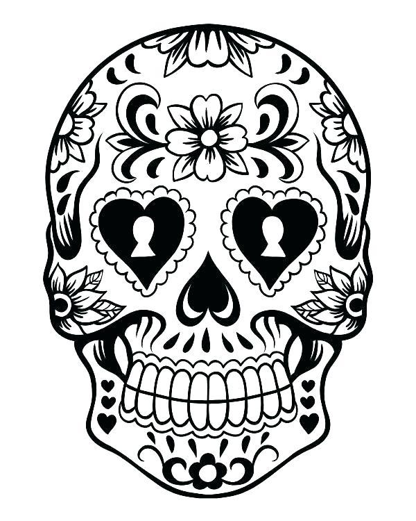600x750 Sugar Skulls Coloring Pages Sugar Skulls Coloring Pages Free Sugar