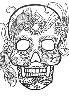 236x330 The Best Printable Sugar Skull Coloring Pages Found Them! Sugar