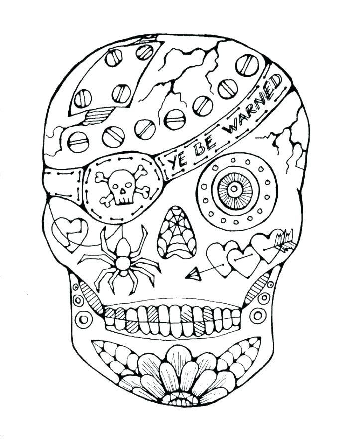 687x889 Free Sugar Skull Coloring Pages Sugar Skull Coloring Pages Pdf
