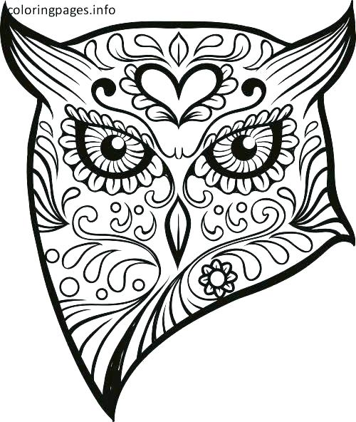 500x592 Girl Skull Coloring Pages Free Coloring Sugar Skull Coloring Pages