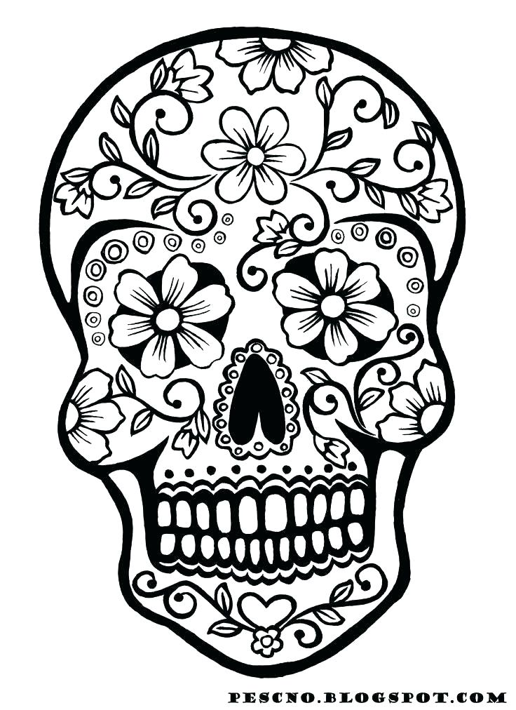 736x1012 Skull Coloring Pages Sugar Skull Coloring Pages Pdf Free Download