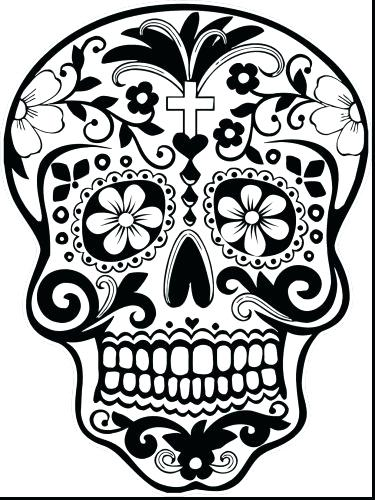 375x500 Skulls Coloring Pages Medium Size Of Sugar Skulls Coloring Pages