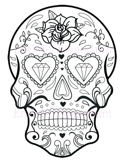 500x647 Candy Skull Coloring Pages As Well As Sugar Skull Coloring Pages