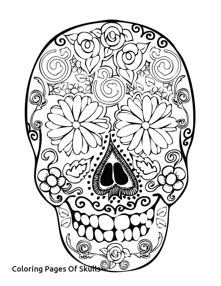 736x951 Sugar Skull Coloring Page Free Printable Sugar Skull Coloring