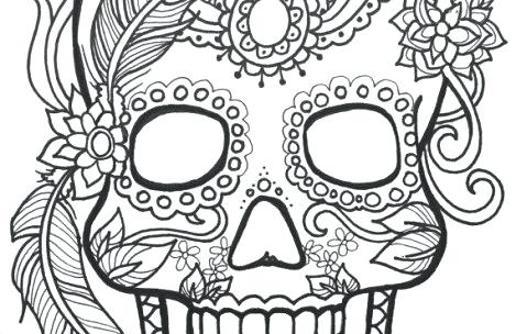 469x304 Sugar Skull Coloring Page Sugar Skull Coloring Pages For Adults