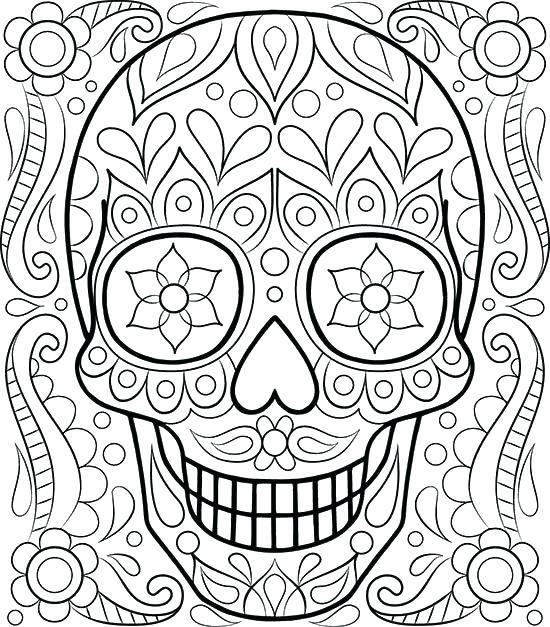 550x627 Sugar Skull Coloring Pages Coloring Page Images Free Sugar Skull