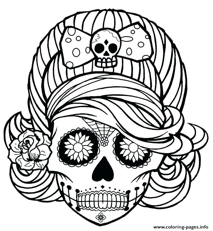 700x761 Sugar Skull Coloring Pages Free Skull Coloring Pages For Adults As
