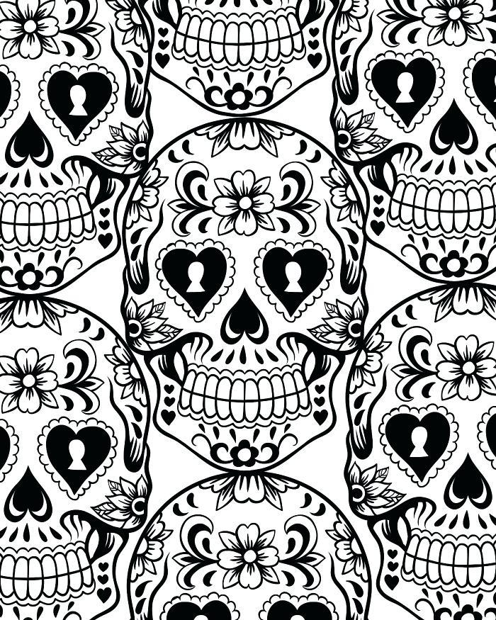 700x875 Candy Skull Coloring Pages Sugar Skull Coloring Page Sugar Skull