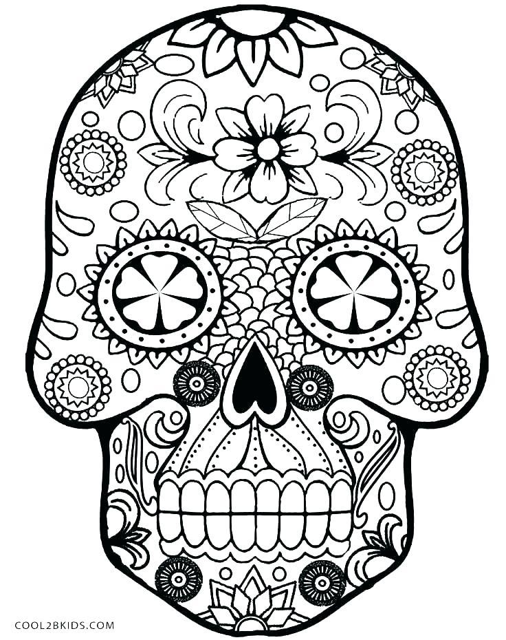736x930 Sugar Skull Coloring Pages Print Sugar Skull Coloring Pages Sugar