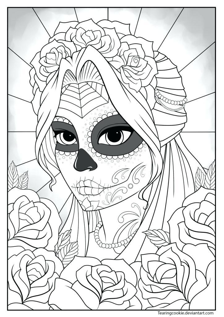 724x1024 Sugar Skull Coloring Pages Printable Free Skull Coloring Book