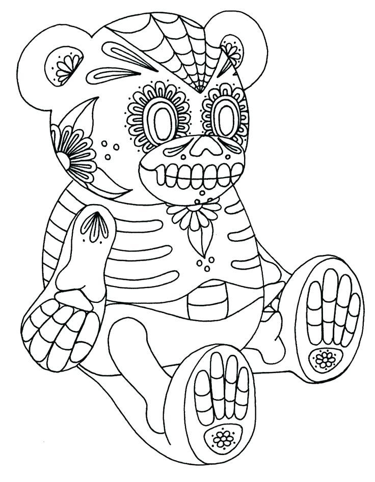 736x947 Sugar Skull Coloring Pages Skull Coloring Book Free Color In Sugar