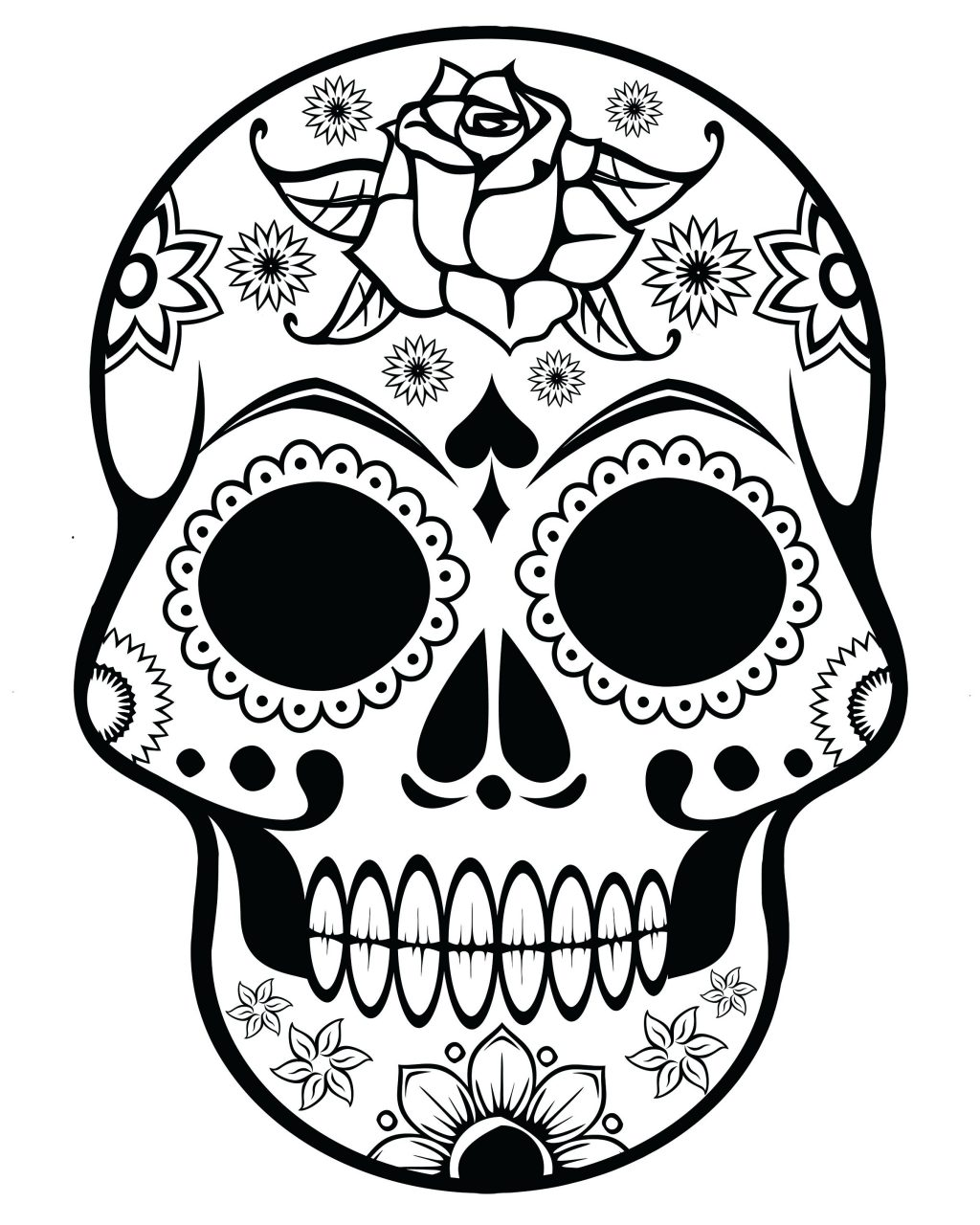1024x1280 Coloring Pages Sugar Skull Coloring Page Pages Printable Sugar