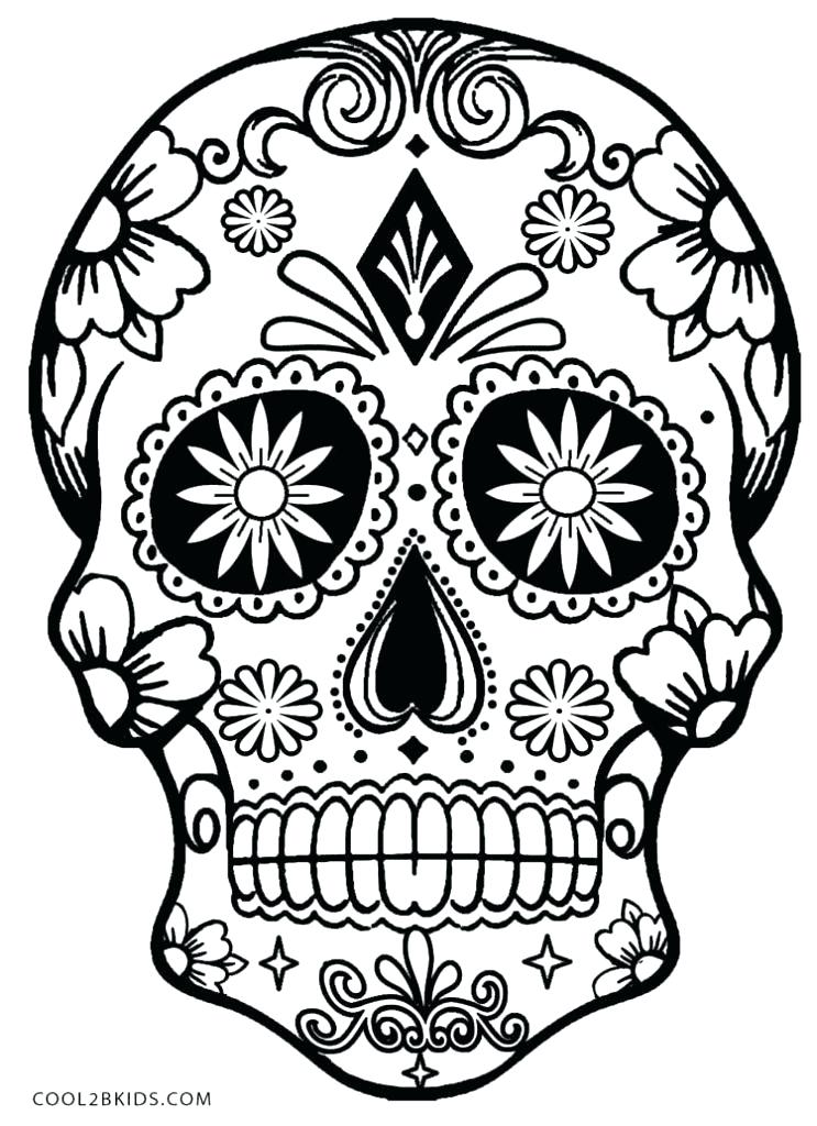 743x1024 Free Sugar Skull Coloring Pages