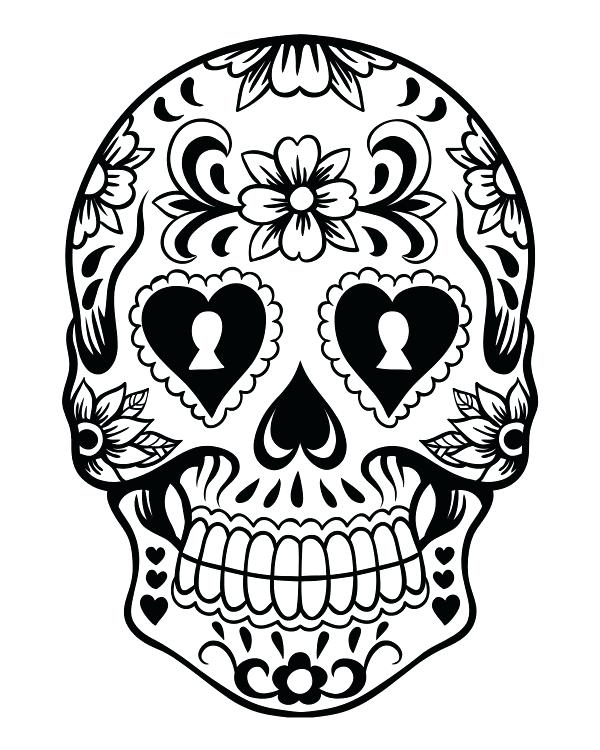 600x750 Skull Coloring Pictures