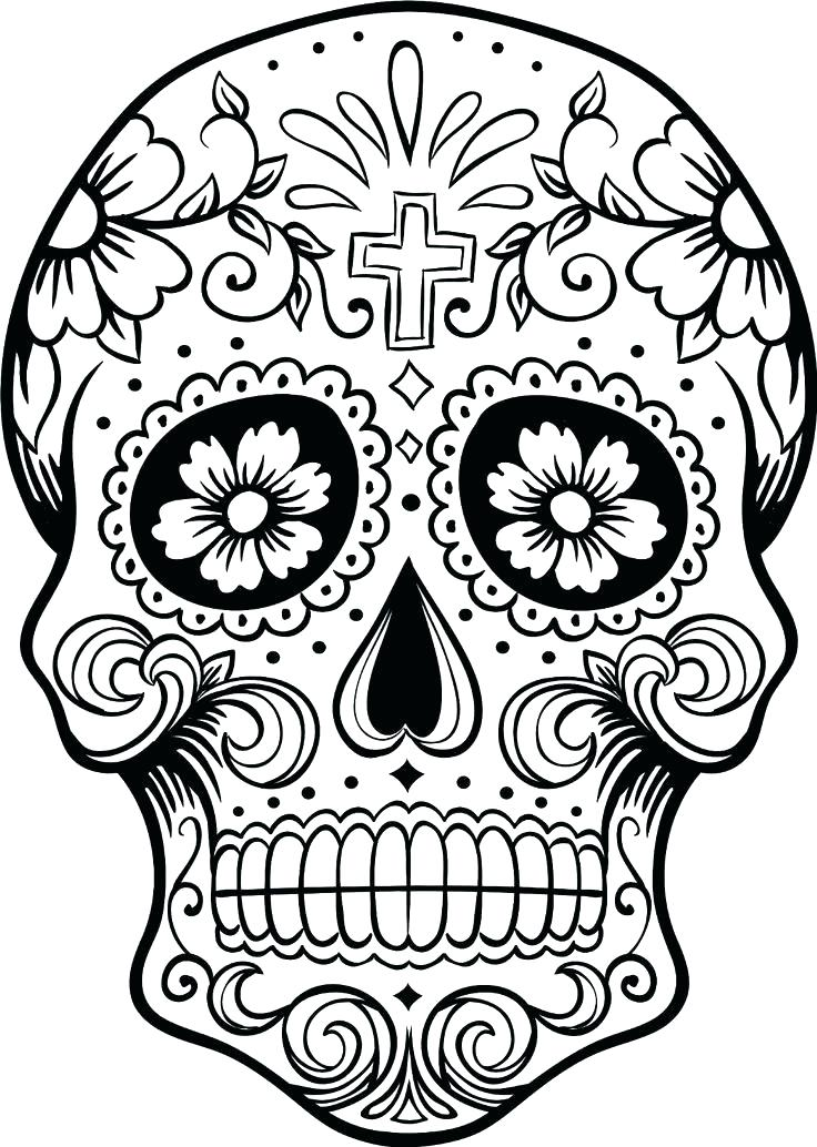 736x1034 Sugar Skull Coloring Pages Pdf Free Download Icontent