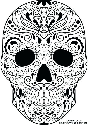 354x500 Candy Skull Coloring Pages Together With Medium Size Of Sugar