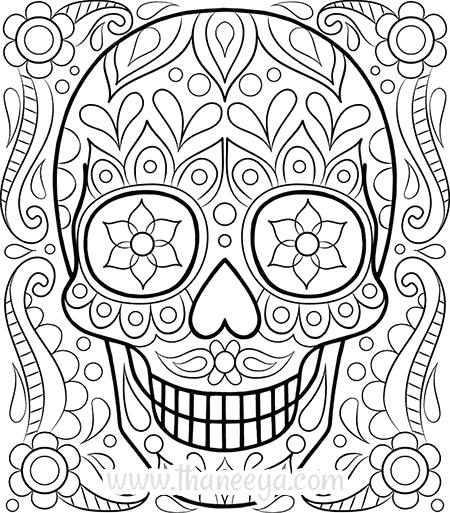 450x513 Free Skull Coloring Pages Skull Coloring Pictures Awesome Free