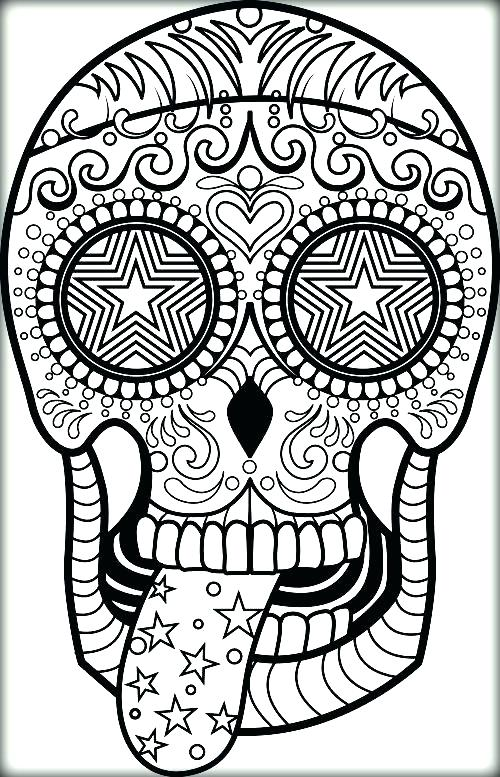 500x777 Coloring Pages Of Sugar Skulls Sugar Skull Coloring Don Sugar