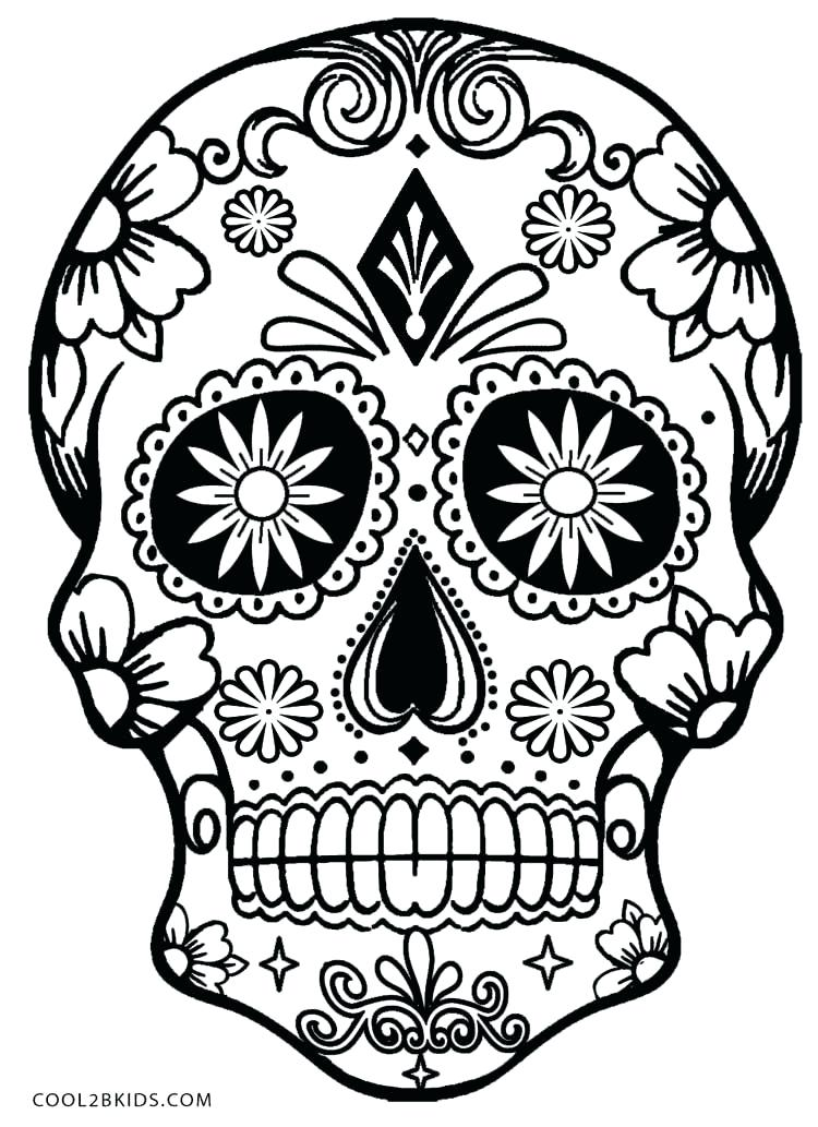 750x1033 Sugar Skull Color Pages Sugar Skull Coloring Pages Free Skull