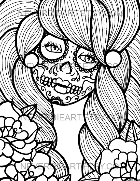 570x738 Digital Download Print Your Own Coloring Book Outline Page